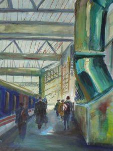 Inside of Waterloo Station